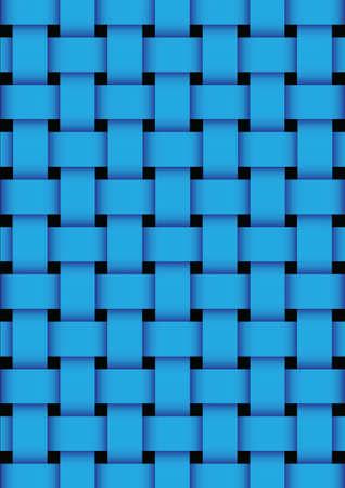 Blue basket weave texture background. vector illustration
