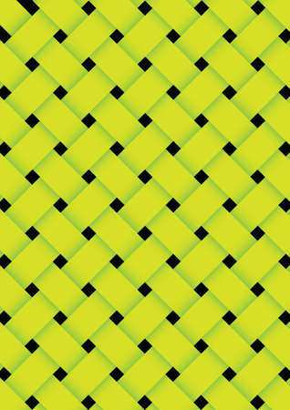 Green basket weave texture background. vector illustration Vector