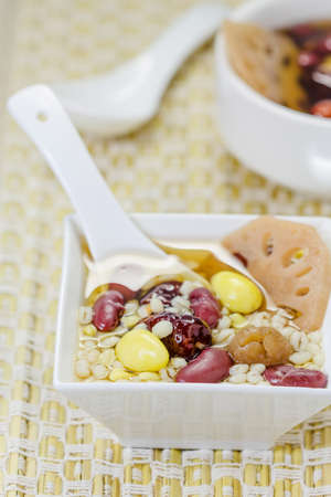 Lotus root and ginkgo nut in longan syrup, Chinese Dessert photo