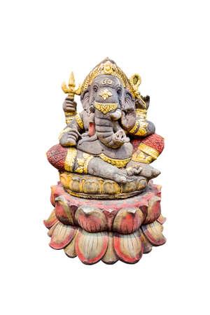 ganapati: idol of Hindu god Ganesha  isolate on white background.