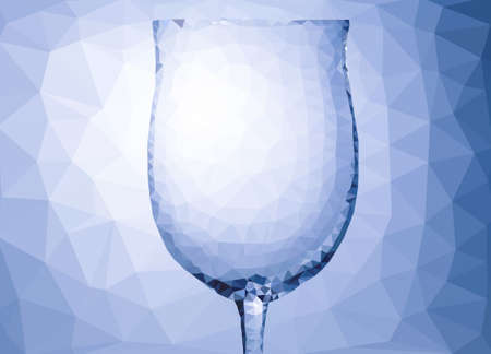 parametric: Abstract wine glass polygon pattern with triangle parametric shape
