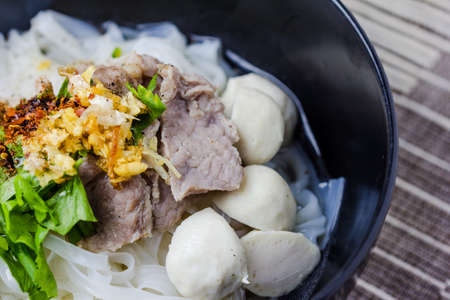 asian style: Asian style beef noodles in soup, Beef noodle with meatballs