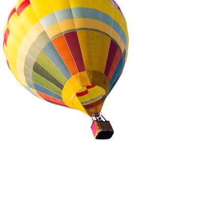 air balloon: hot air balloon isolated on white background Stock Photo