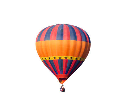 hot air: hot air balloon isolated on white background Stock Photo