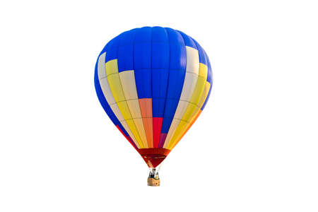 hot air balloons: hot air balloon isolated on white background Stock Photo