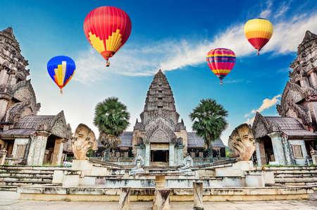 bayon: Ancient Bayon castle, Angkor Thom, Chiangrai, Thailand.