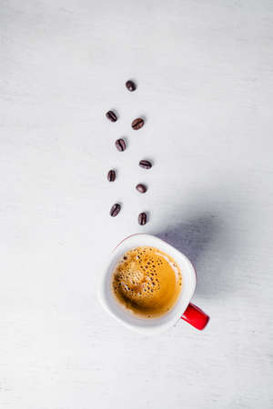 espresso cup: Coffee Espresso. Cup Of Coffee on wooden background.