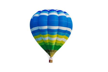 hete lucht ballon geïsoleerd op een witte achtergrond Stockfoto
