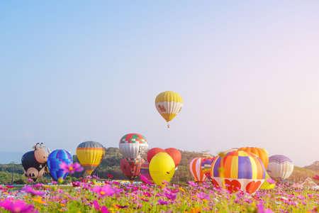 CHIANGRAI Thailand - FEBUARY 16 2017 : Singha Park International Balloon Fiesta 2017 in Singha Park, Chiang Rai, Thailand. Editorial