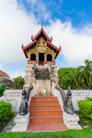 Wat Phra Singh temple  is located in the western part of the old city center of Chiang Mai, Thailand.