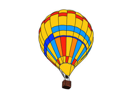 Hot air balloon isolated on white background. Stock fotó