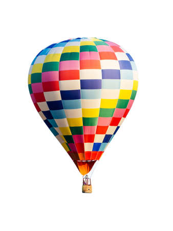 hot air balloon isolated on white background 版權商用圖片