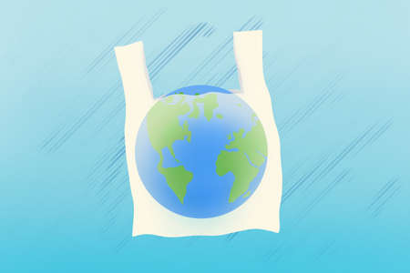Say no to plastic bags. World environment Day concept. Stock Photo