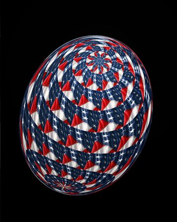 A single 3D Easter Egg textured with the US flag