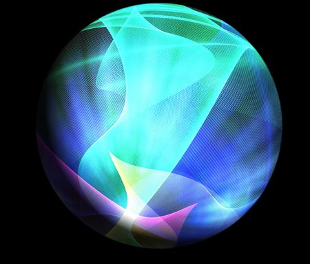 space science background texture sphere Stock Photo