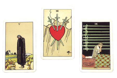 Tarot Cards Representing Pangs of Love
