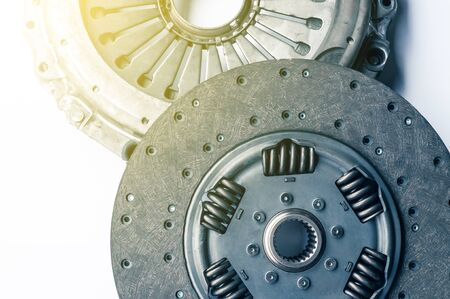 the part clutch for a car on a white background