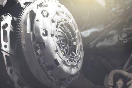 new sport clutch on a car the auto repair shop