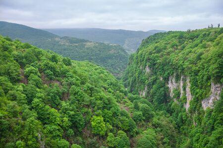 The beautiful Okatse Canyon in Georgia in spring. 版權商用圖片