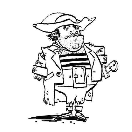 Funny pirate captain
