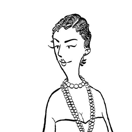 Young woman with beads