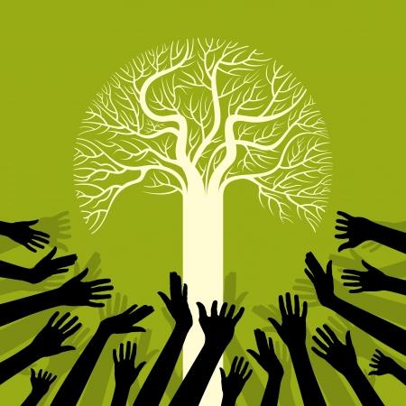 responsabilidad: salvar el medio ambiente ahorro de árbol