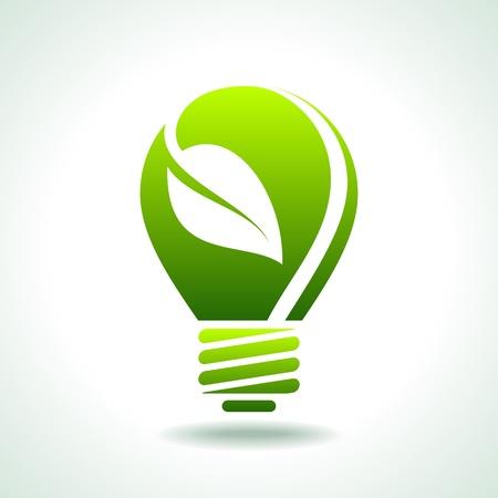bombilla: concepto de eco verde luz