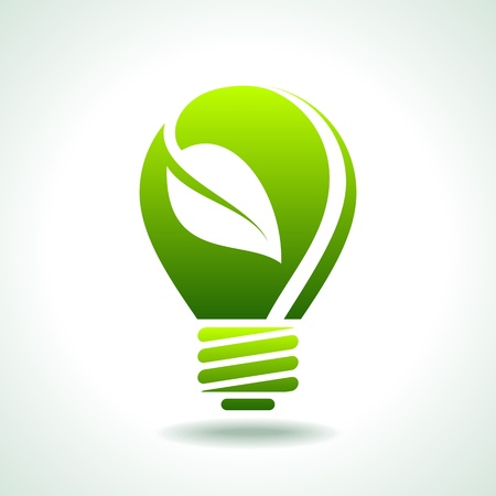 eco energy: green light eco concept
