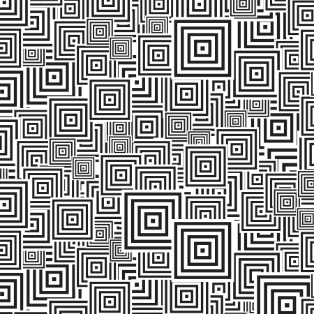 geometrical shapes: seamless patterns Black   white Illustration