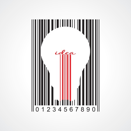 product innovation: Stylish concept of idea barcode Illustration