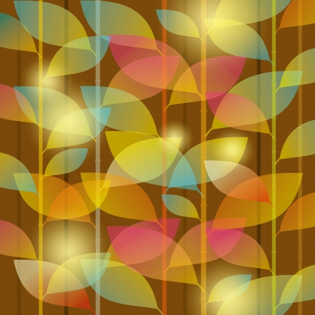 tissue paper: seamless pattern of colored leaves Illustration