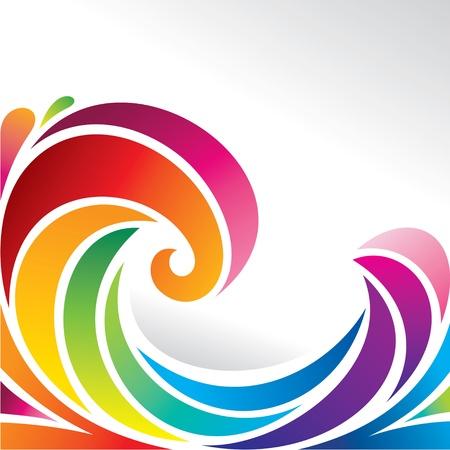 olas del arco iris Ilustración de vector
