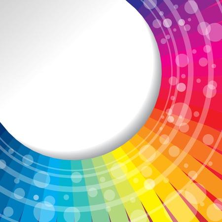 design background: waves of rainbow Illustration
