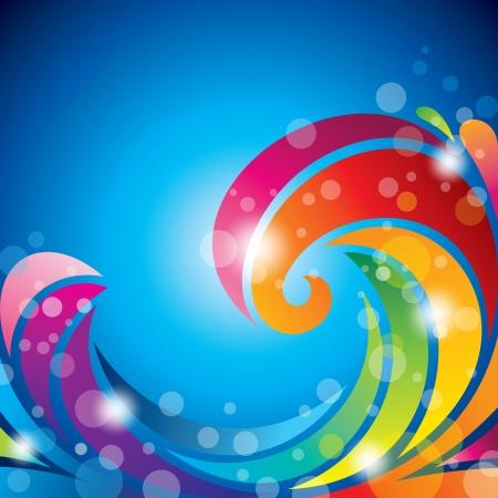 golven van de regenboog Stock Illustratie