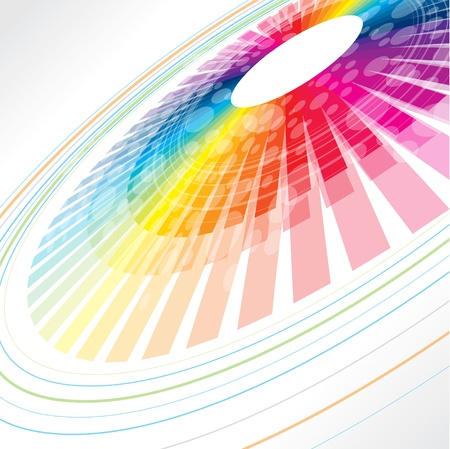 concentric circles: rueda abstracto colorido