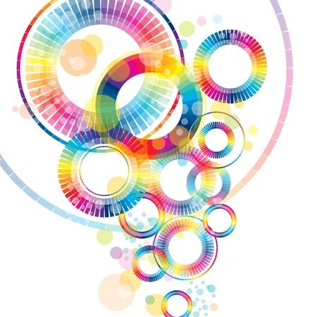 circulos concentricos: coloridos abstractos ruedas Vectores