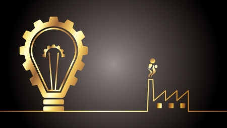 environmental bulb idea Vector