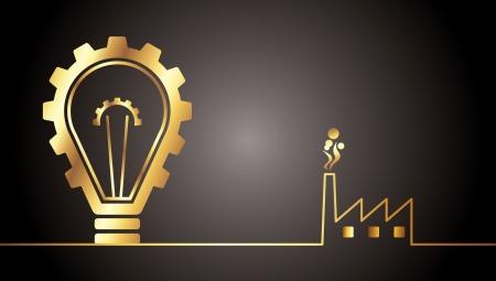 environmental bulb idea Stock Vector - 15574379