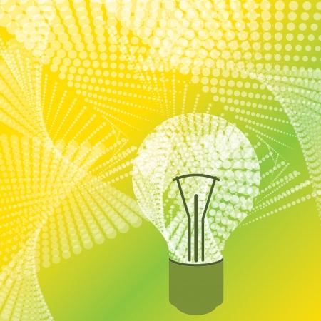 halftone bulb idea Stock Vector - 15574391