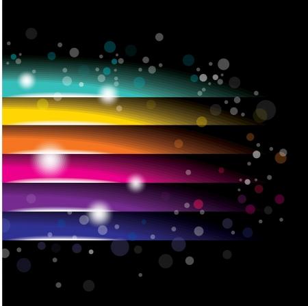 chromatique: abstrait color� sur fond noir