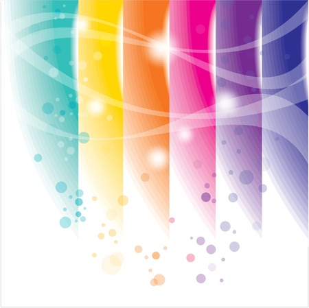 chromatic: colorful abstract on white background Illustration