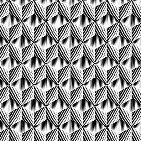 illusions: abstract BW pattern