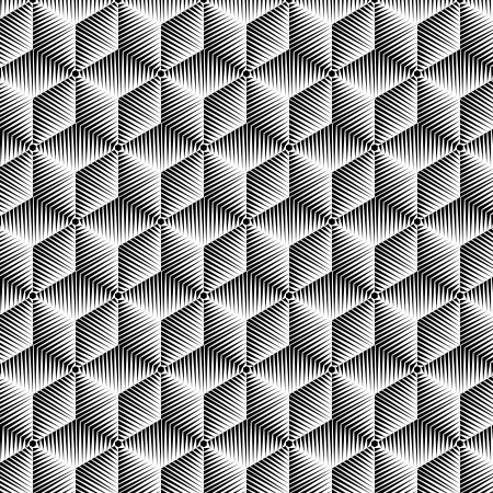 arte optico: BW patrón abstracto