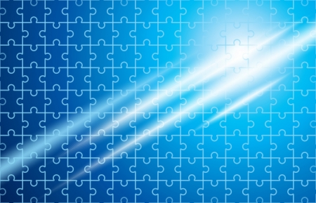 puzzle with shiny rays background Vector
