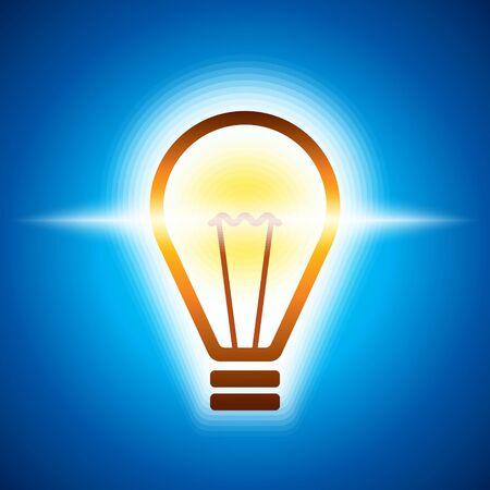 incandescence: glowing bulb in bluish light
