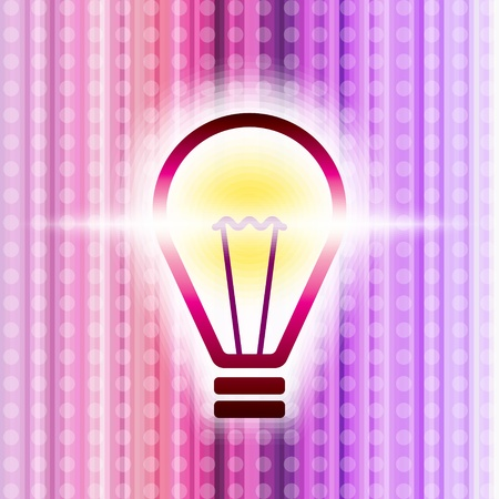 raster background with glowing bulb Stock Vector - 15727495