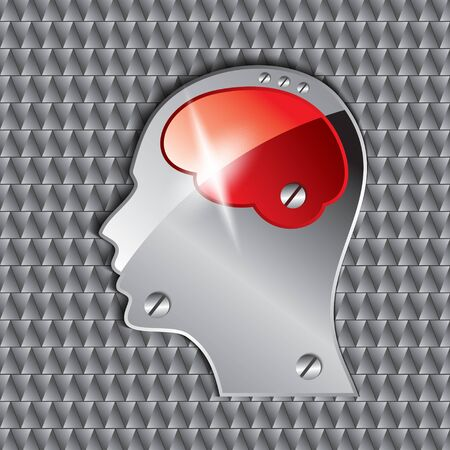 head brain vector on seamless background Stock Vector - 15659609