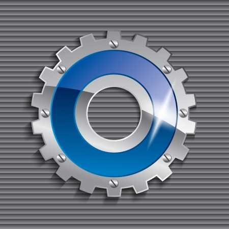 mechanical radiator: gear vector icon