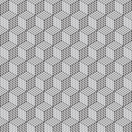 Seamless geometric pattern in op art design  Vector art Vector