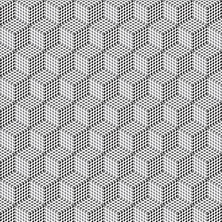 latticed: Seamless geometric pattern in op art design  Vector art